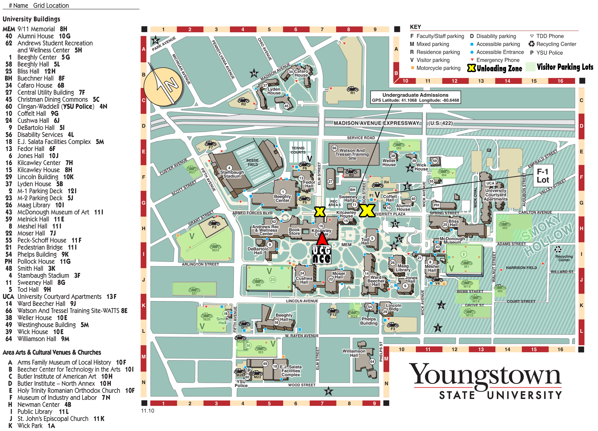 YSU Campus Map